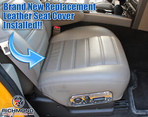 2003 2004 Hummer H2 SUV SUT-Passenger Side Bottom Leather Seat Cover Wheat Gray