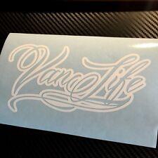 WHITE Van Life Decal Sticker Camper Van Caravan Camping VDUB Transit Caddy T4 T5