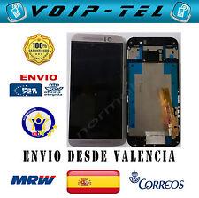PANTALLA  CON MARCO COMPLETA LCD DISPLAY CON TACTIL HTC ONE M9 PLATA / PLATEADO