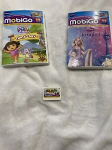 Mobigo Games Lot - Dora The Explorer Twins Day, Disney Tangled And Touch & Learn