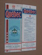 Vintage 1940 Canada Travel Map Brochure - La Province de Quebec