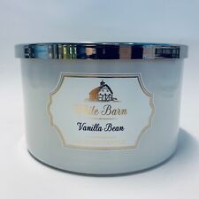 Bath & Body Works White Barn Vanilla Bean 3 Wick Large Low Profile Candle 14.5oz