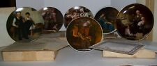 6 Norman Rockwell Collector Plates Limited Edition: Knowles: in boxes: 1977-1984