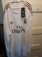 Adidas Real Madrid Home Jersey 2019/2020 Long Sleeve Size XL
