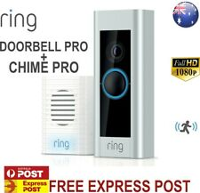 RING VIDEO DOORBELL PRO + RING CHIME PRO - SATIN/NICKEL, 1080P, MOTION SENSE