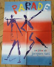 JACQUES TATI PARADE 1974 AFFICHE   FRENCH POSTER AFFICHE ORIGINAL