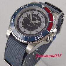 40mm BLIGER men's watch sapphire crystal date luminous ceramic bezel wristwatch