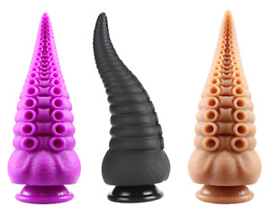 8' Inch Silicone Fantasy Dildo Tentacle Alien Hentai Mythical Adult Sex Toy Dong
