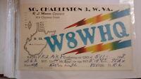OLD VINTAGE QSL HAM RADIO CARD POSTCARD, CHARLESTON WEST VIRGINIA 1958