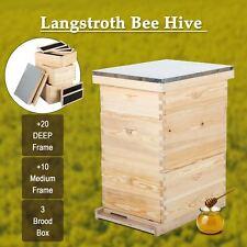 10-Frame Hive Frame/Bee Hive Frame/Beehive Frames w/ Metal Roof for Beekeeping..
