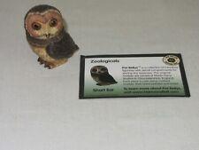 Pot Bellys Vtg Short Ear Owl Figurine Hand Painted Harmony Ball Trinket Box 2005