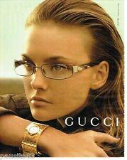 PUBLICITE ADVERTISING 116  2006   Gucci  collection montre & lunettes