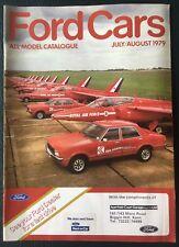 Ford Cars July-Aug 1979 UK Market Brochure Fiesta Escort Cortina Capri Granada