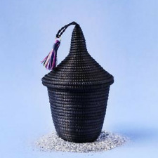 Black Small Peace Basket Handmade in Africa with Sisal -  Fair Trade Product