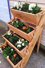 """New 24"""" old sawmill cut, vertical gardening raised bed planting vegetables plant"""