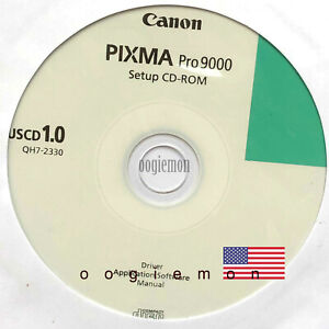 Setup CD ROM for CANON PIXMA PRO 9000 Software for Windows and macOS RARE