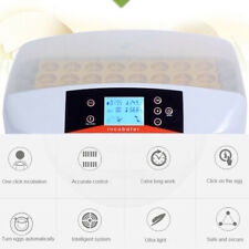 32 Digital Egg Incubator Automatic Hatcher Temperature Control Chicken Bird New