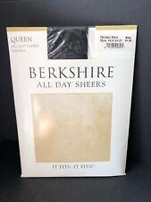 Berkshire - Queen All Day Sheers Hosiery - Plus - 1X-2X Fantasy Black Sandalfoot