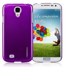 Momax Thin Glossy Metallic Case + Protector for Samsung Galaxy S4 i9500 - Purple