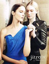 PUBLICITE ADVERTISING  2013   JITROIS   collection vetements cuir haute couture
