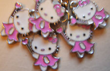 Hello Kitty Émail Porte-clés x 5 Sac Fête Remplisseur. Rose Fairy Kitty