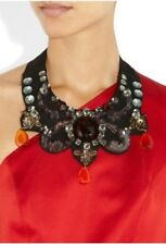 LANVIN**Dress Embellished bib necklace/Choker (belt,brooch,dress,ring) AMAZING!