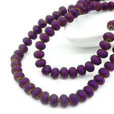 Wholesale Rondelle Faceted Crystal Glass Loose Spacer Scrub Beads 3mm4mm6mm8mm