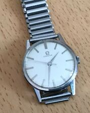 Gents Vintage Manual Wind Omega Chrome Stainless Watch.