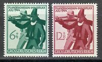 Germany 1944 MNH Mi 897-898 Sc B278-B279 Soldier & Tirolese Rifleman **