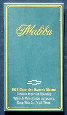 Owner's Manual * Betriebsanleitung 1979 Chevrolet Chevy Malibu (USA)
