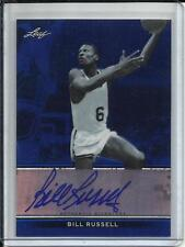 Bill Russell 12/13 Leaf Metal Blue Refractor Autograph #15/25