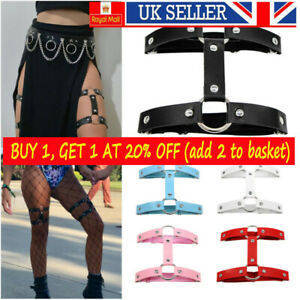 Gothic Leather Leg Garters Belt Thigh Ring Leg Harness Garter Belt Elastice