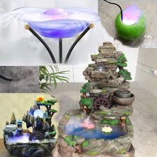 12LED Mist Maker Fogger Atomizer Air Humidifier Water Fountain Pond Fog Machine