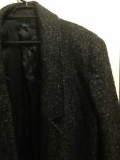 BENETTON NWOT Sz42 (12/14/16*) Charcoal Jacket / Coat 50% WOOL