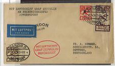 1930 Germany Danzig Flight Graf Zeppelin Cover to London England LZ 127