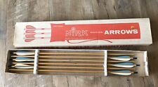 "12 Vintage Gilmore #11 Fiberglass Arrows - 5� Fletch. 32 1/4"" long tip to tip"
