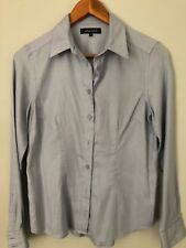 Blue Long Sleeve Shirt Blouse size 8 by Jaeger