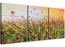 Large Floral Abstract Summertime Canvas Art for your Living Room