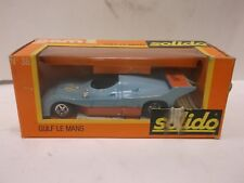 Solido Gam 2 No.38 Gulf Le Mans 1975 In Light Blue With Orange Base 1:43 Scale