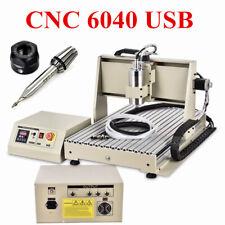 Usb 1500w 6040 3 Axis Cnc Router Engraver Vfd Drilling Milling Machine 220v Dhl