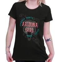 Arizona Cowgirl Boots Rodeo Chutes Country Western AZ Womens Tee T Shirts