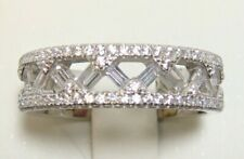 Wedding Band Ring Size 6 Platinum 925 Sterling Silver Simulated Diamond Eternity