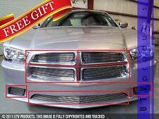 GTG 2011 - 2014 Dodge Charger 7PC Polished Custom Overlay Billet Grille Kit