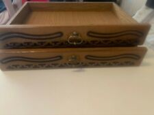 2 X Wooden Drawers Under Sofa Bed