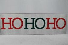 Wooden Block Sign 'HoHoHo' by About Face-Christmas  #181624 Hang or Set  NEW