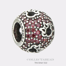 Authentic Pandora Disney Abstract Pave Red CZ & Minnie Silhouette Bead 791584CZR