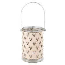 Neu Clayre & Eef Teelichthalter Windlicht Rentier Beige Ø 8*11 cm 6GL2098