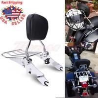 Detachable Backrest Sissy Bar Rack For Harley Davidson Touring Model FLH 2009-18