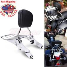 Detachable Backrest Sissy Bar Rack For Harley Davidson Touring Model FLH 2009-18