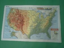 "Nystrom Raised Relief Map of the United States Markable 12"" x 19"""